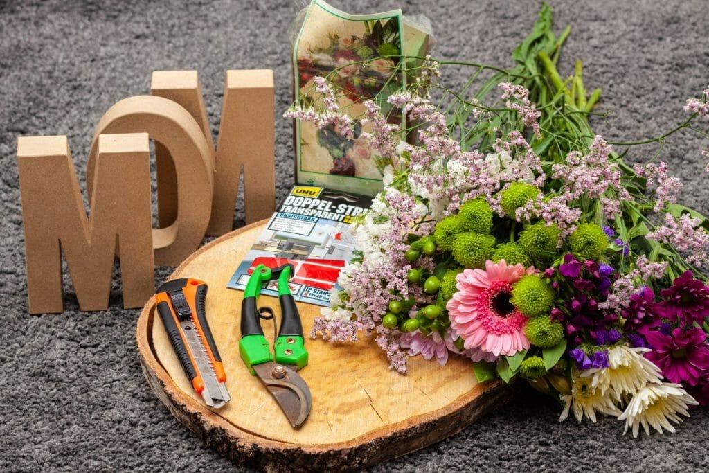 Materialien für das DIY Muttertagsgeschenk
