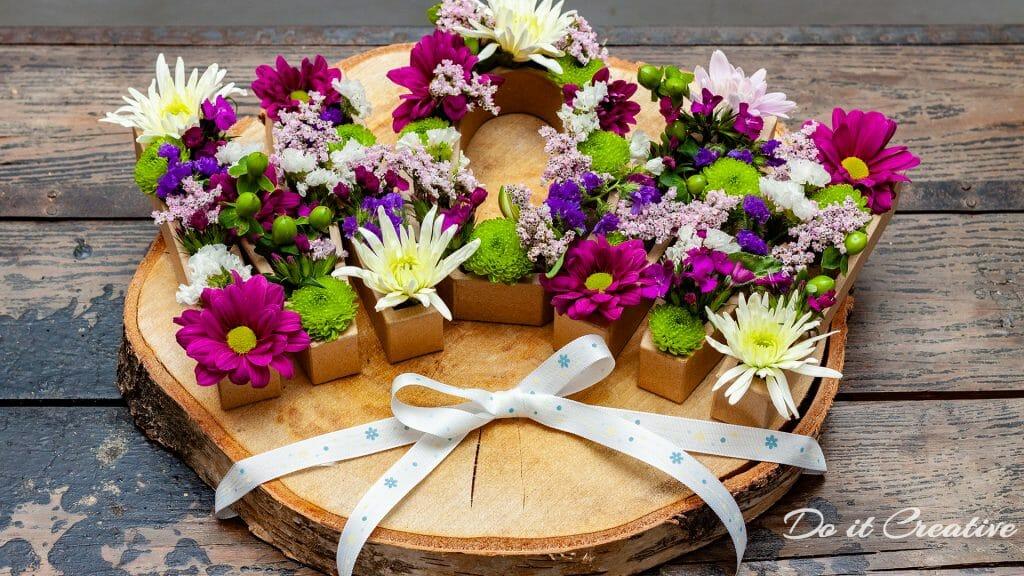 Blumenbuchstaben MOM