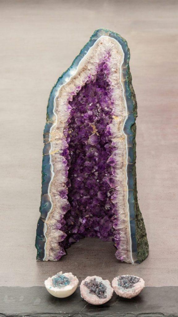 Badekristalle als Amethyst