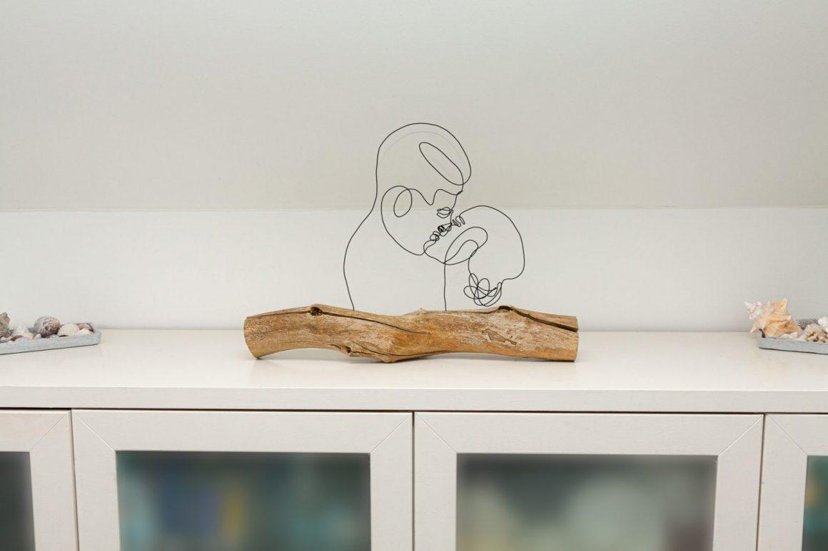 DIY Line Art Deko aus Draht selber machen