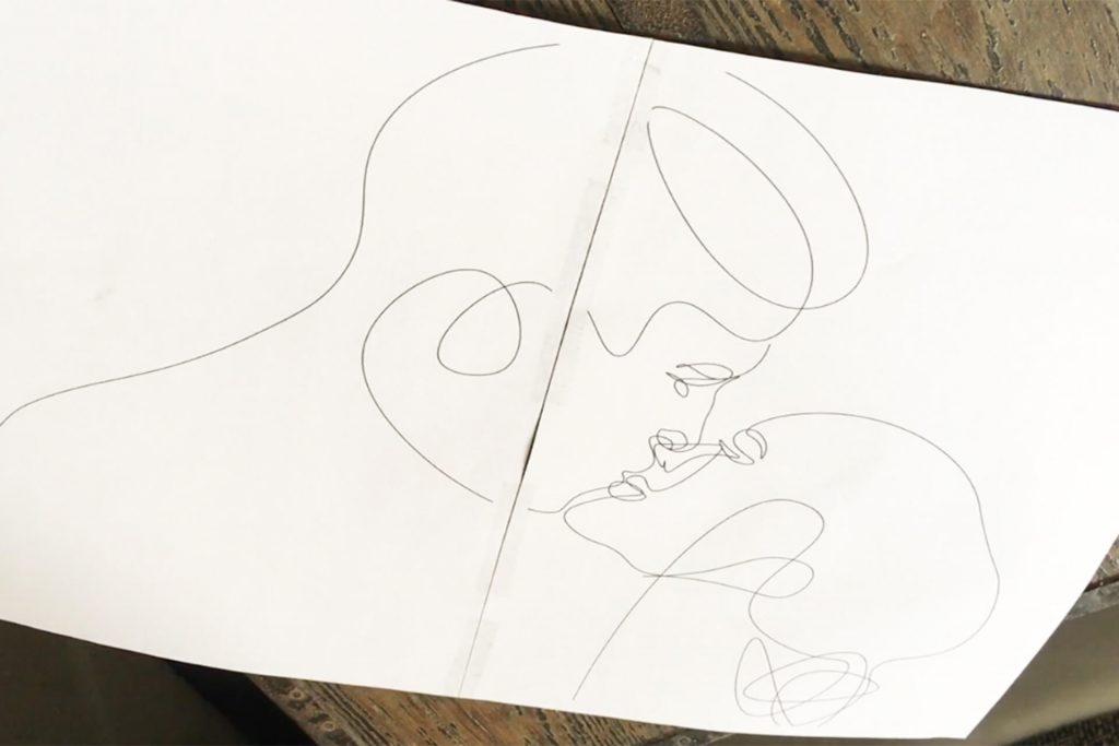 Schablone für Line Art Deko aus Draht
