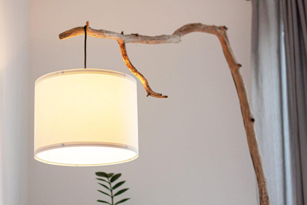 Designerlampe Astlampe selber bauen